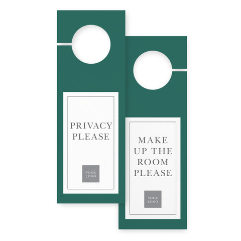 Door hangers – 2 sided - Value – Malachite Green