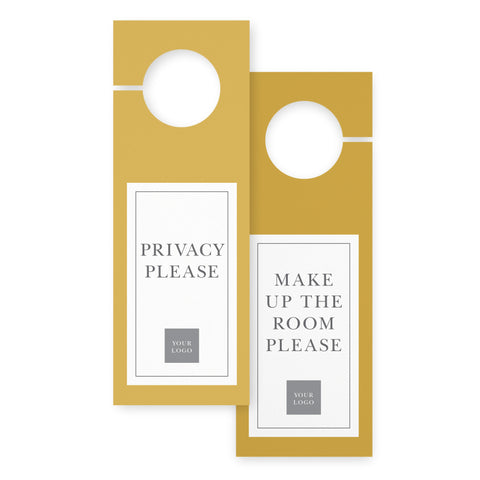Door hangers – 2 sided - Value – Mustard