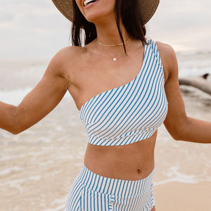 Breezy Stripe Icon Swim Crop