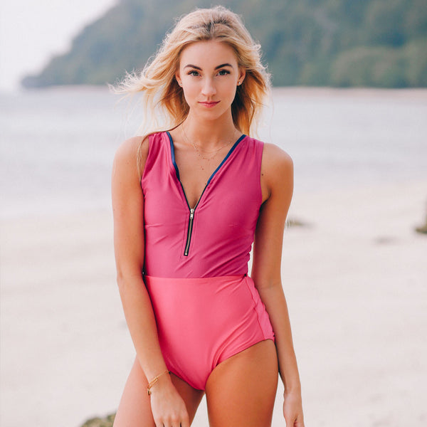 The Bombshell, Magenta One-Piece Suit