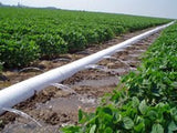 "10"" x 9 mil x 1320' polypipe lay-flat irrigation tubing"