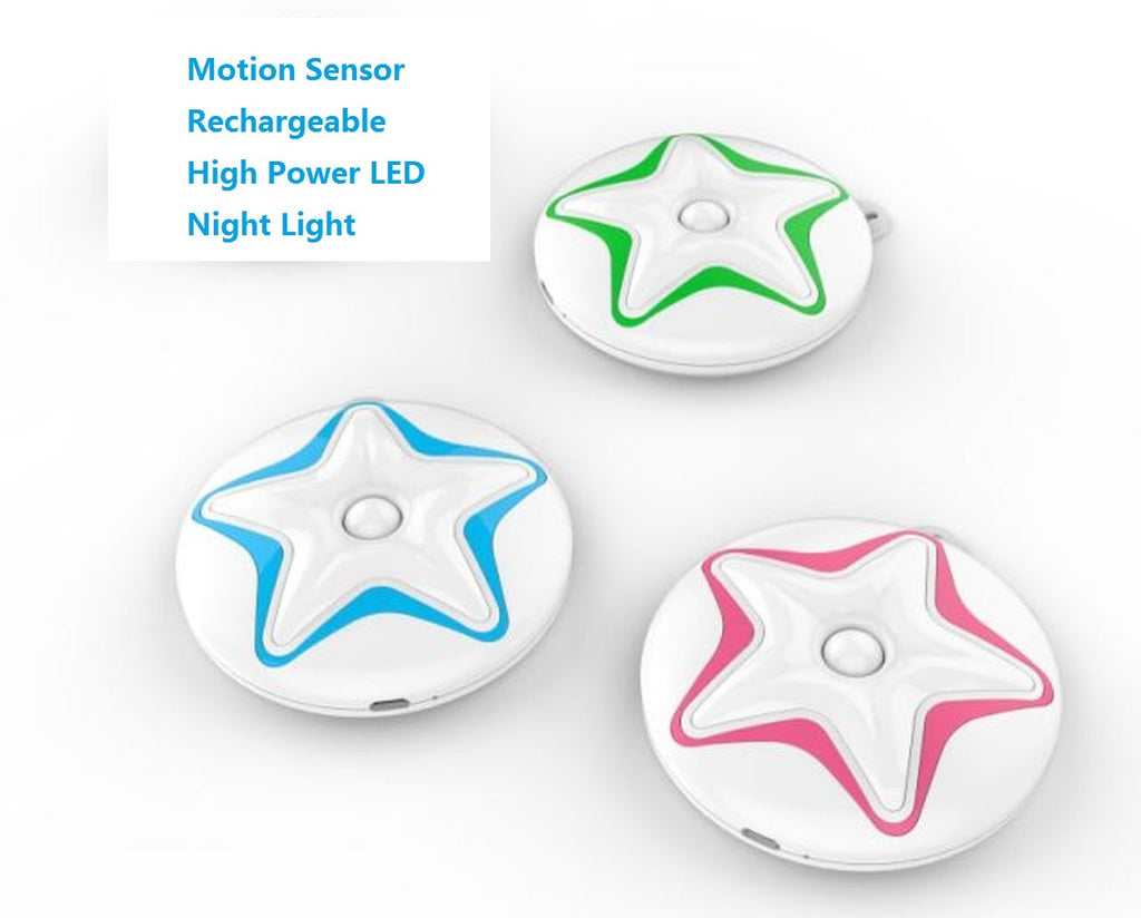 Rechargeable Motion Sensor LED Night Light -ASL- (1 set)