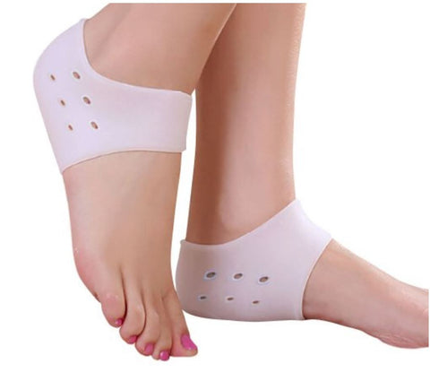 Anti-Slip Silicone Moisturizing Gel Heel socks with breathable holes. C22 (1 Pair)