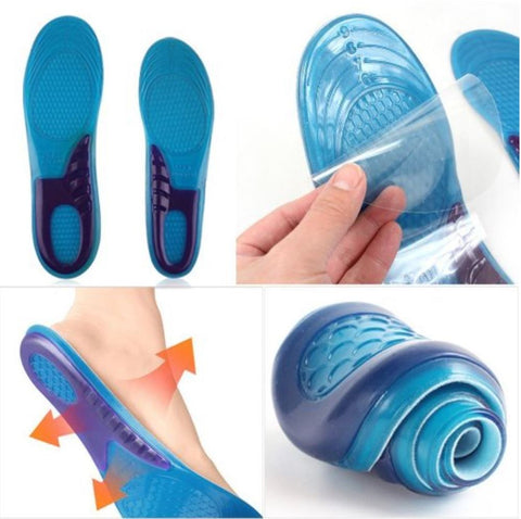 Silicone Gel TPR Plantar Fasciitis Orthotics Insoles.  Foot Arch Support.-D03- (1 pair)