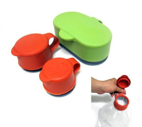 Food Multifunctional Silicone Sealing Cap.  Food Saver Cap. -FSC- (1 Set/3Pcs)