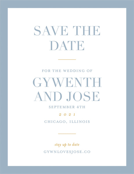 Color Block Save the Date