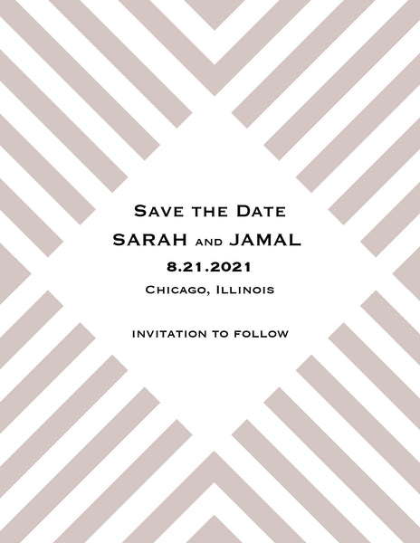 Stripes Save the Date