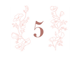 Botanical Wreath Table Number