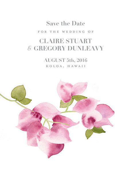 Bougainvillea Save the Date