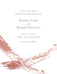 Brushstroke Save the Date
