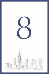 Chicago Skyline Table Number