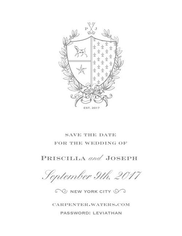 Classic Crest Save the Date