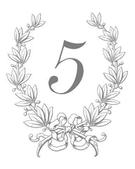 Classic Crest Table Number