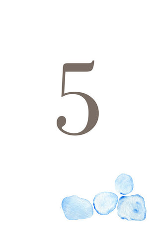 Seaglass Table Number