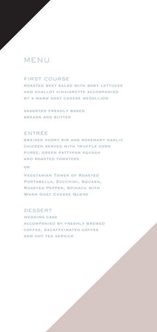 Stripes Menu