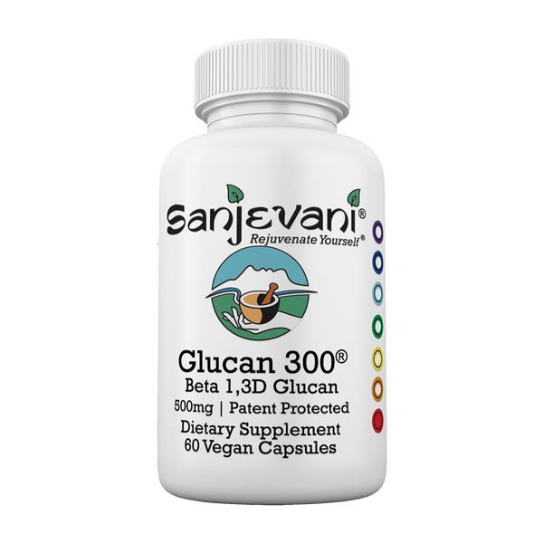 Sanjevani  Glucan 300 <br /> Beta 1,3D Glucan 500mg <br /> 60 Capsules - Bosmeric-SR 120ct All Natural Anti-Inflammatory, House of Sanjevani® Integrative Medicine Health & Lifestyle Center - House of Sanjevani Integrative Medicine