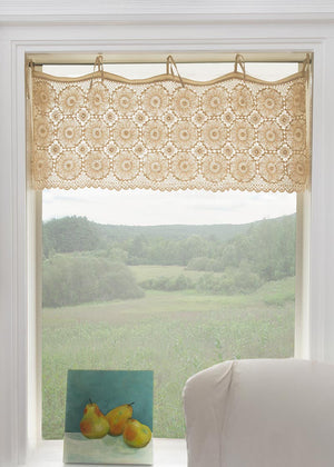 Crochet Envy Medallion Valance in Natural by Heritage Lace