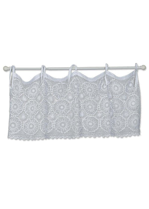 Crochet Envy Medallion Valance in White by Heritage Lace