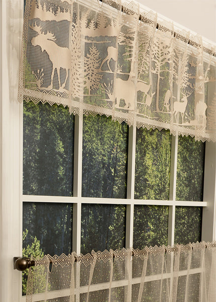 Lodge Hollow Lace Valance Pine Hill Collections