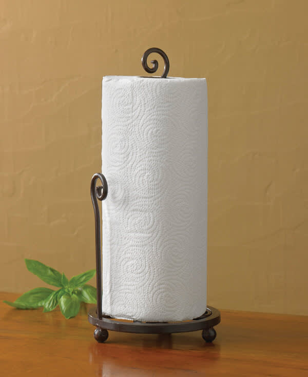 Village Scroll Paper Towel Holder