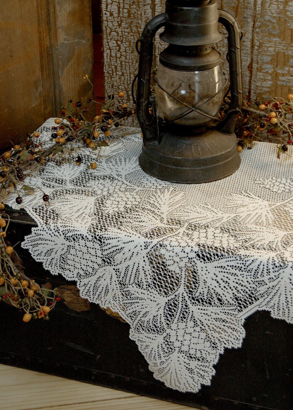 "Woodland Lace Table topper 36""x36""by Heritage Lace"