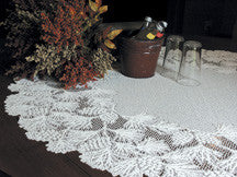 "Woodland Lace 48""round table topper by Heritage Lace"