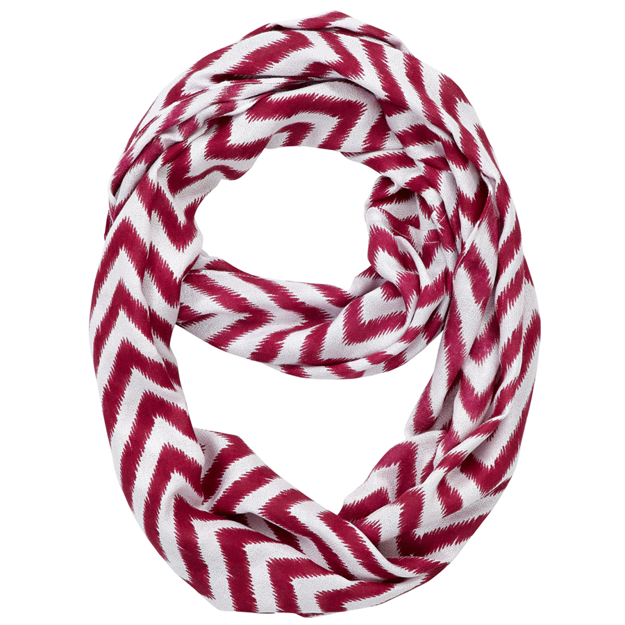 Infinity Neck Scarf Boysenberry Chevron - Pine Hill Collections