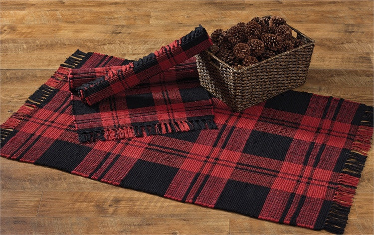 Buffalo Check Rag Rug 24 Quot X 42 Quot Pine Hill Collections