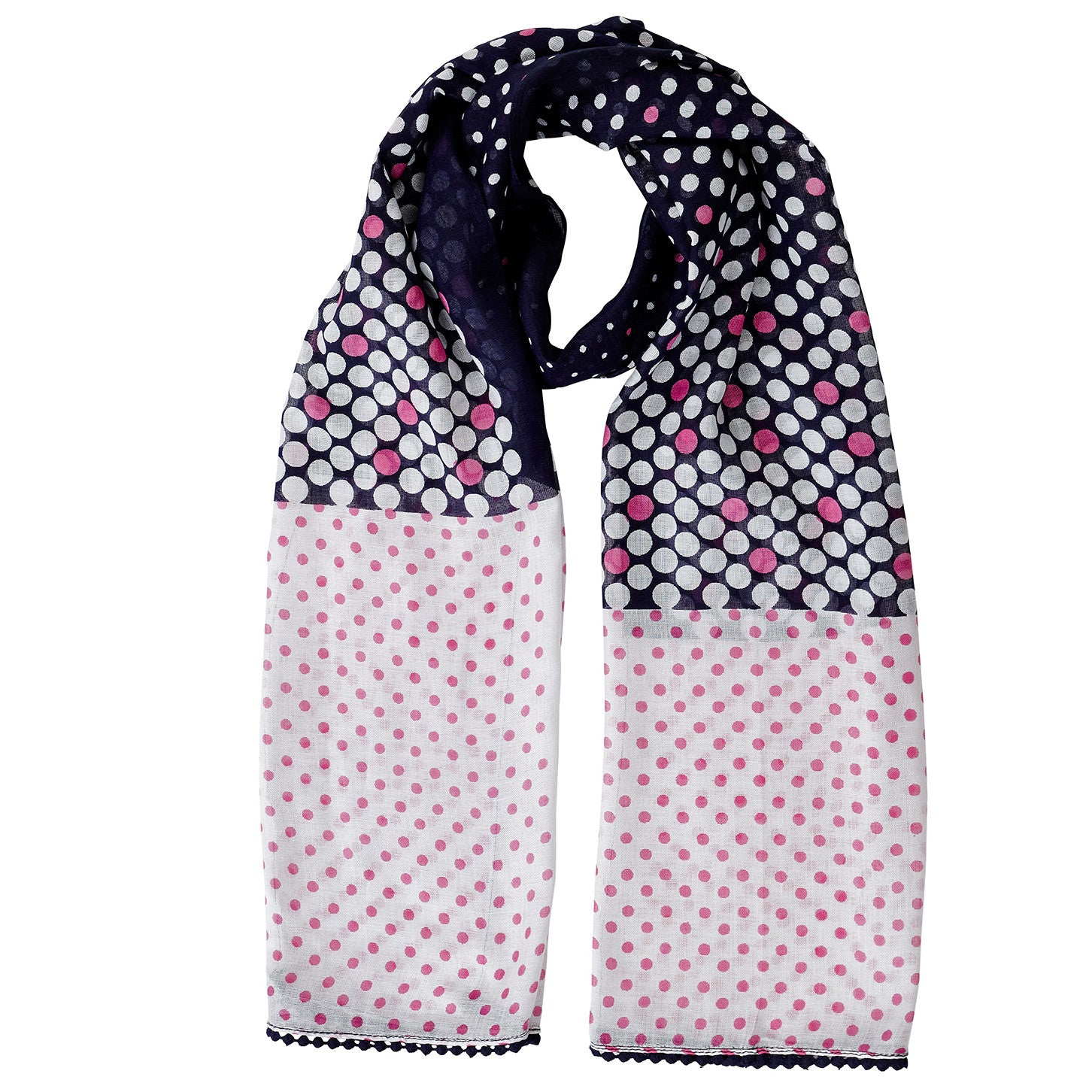 Neck Scarf Carlisle Polka Dot with Lace - Pine Hill Collections