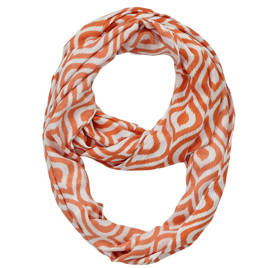 Infinity Neck Scarf Celosia Orange - Pine Hill Collections
