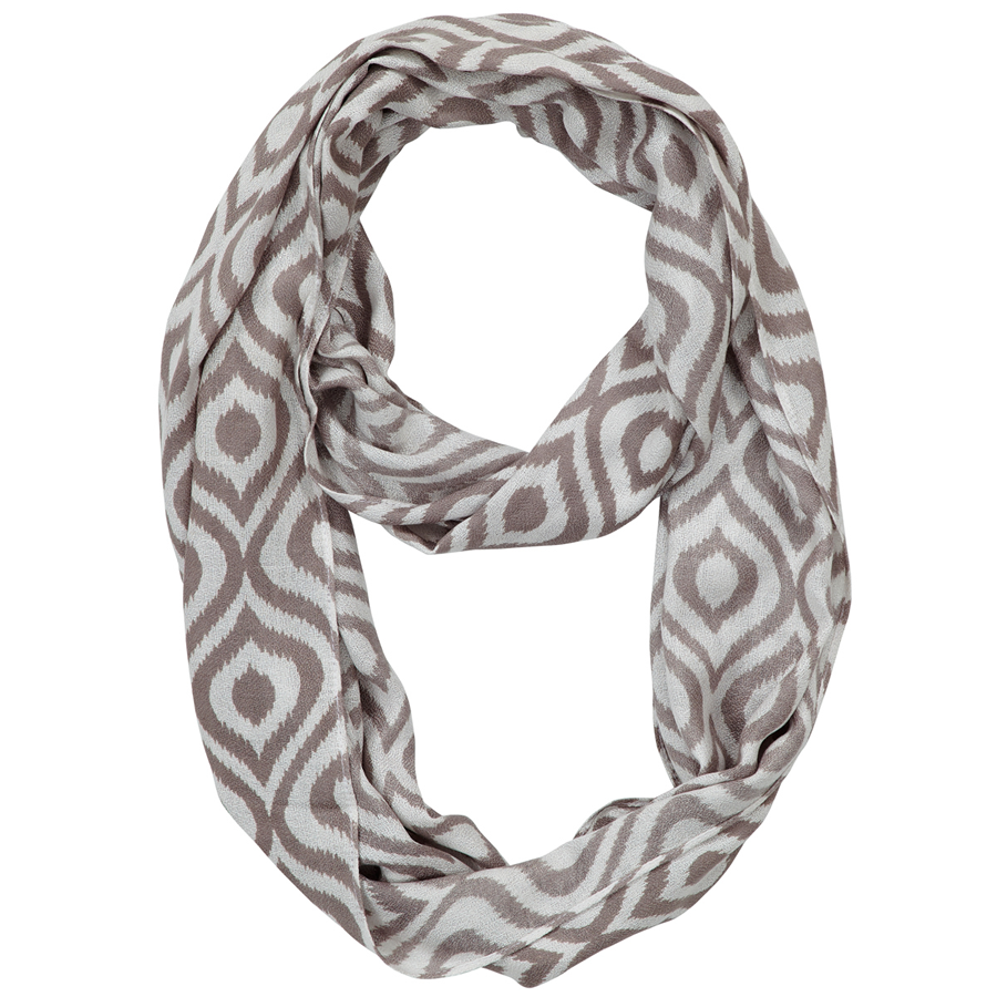 Infinity Neck Scarf Gray Ogee - Pine Hill Collections