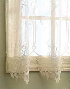 "Heirloom Lace Sheer Panel 63"" ecru,white Heritage Lace"