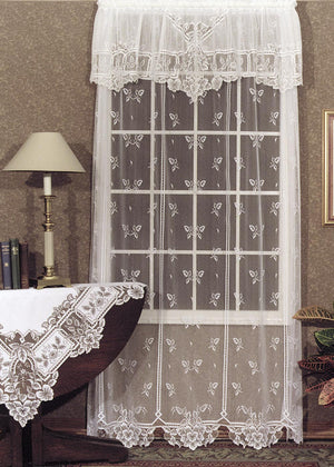 "Heirloom Lace Sheer Panel 63"" - Pine Hill Collections"
