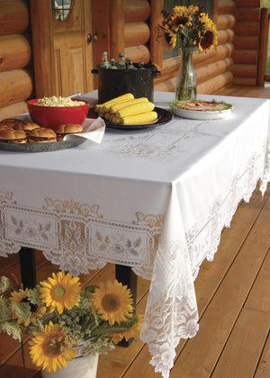 "Heirloom Lace Tablecloth 70"" x 90"" Rectangle - Pine Hill Collections"