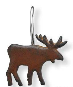 Moose Shower Curtain Hooks - Pine Hill Collections