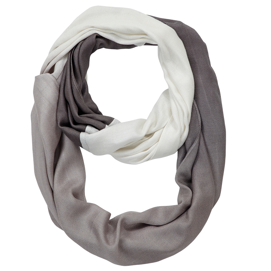 Infinity Neck Scarf Gray Ombre - Pine Hill Collections