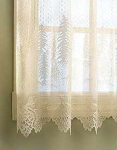 Pinecone lace swag curtain by Heritage Lace