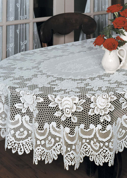 Rose Lace 60 x 108 Tablecloths by Heritage Lace Pine