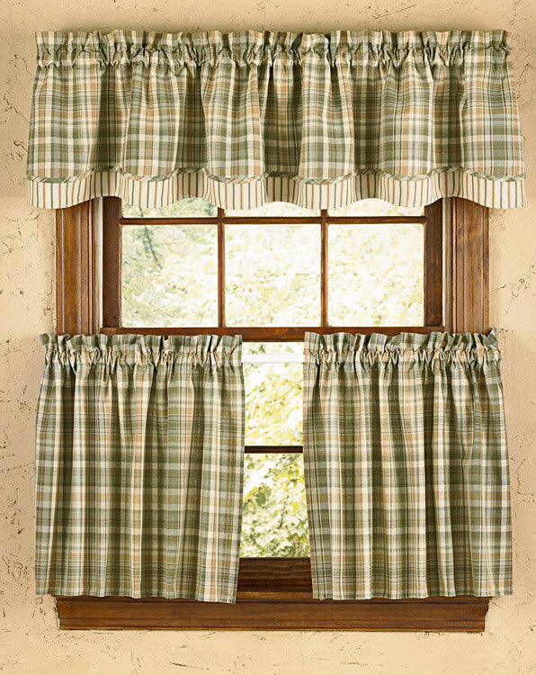 Rosemary Lined Layered Valance - Pine Hill Collections
