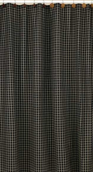 Sturbridge Black Shower Curtain - Pine Hill Collections