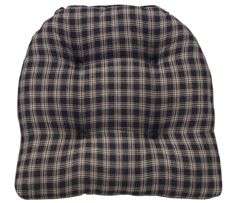Sturbridge Navy Tufted Chair Pad - Pine Hill Collections