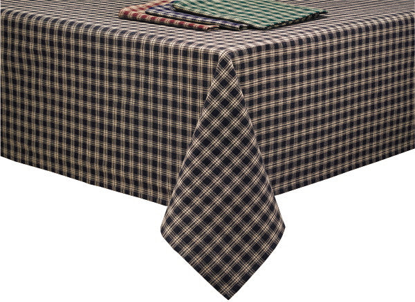 "Sturbridge Black Tablecloth 60"" x 84"" rectangle - Pine Hill Collections"