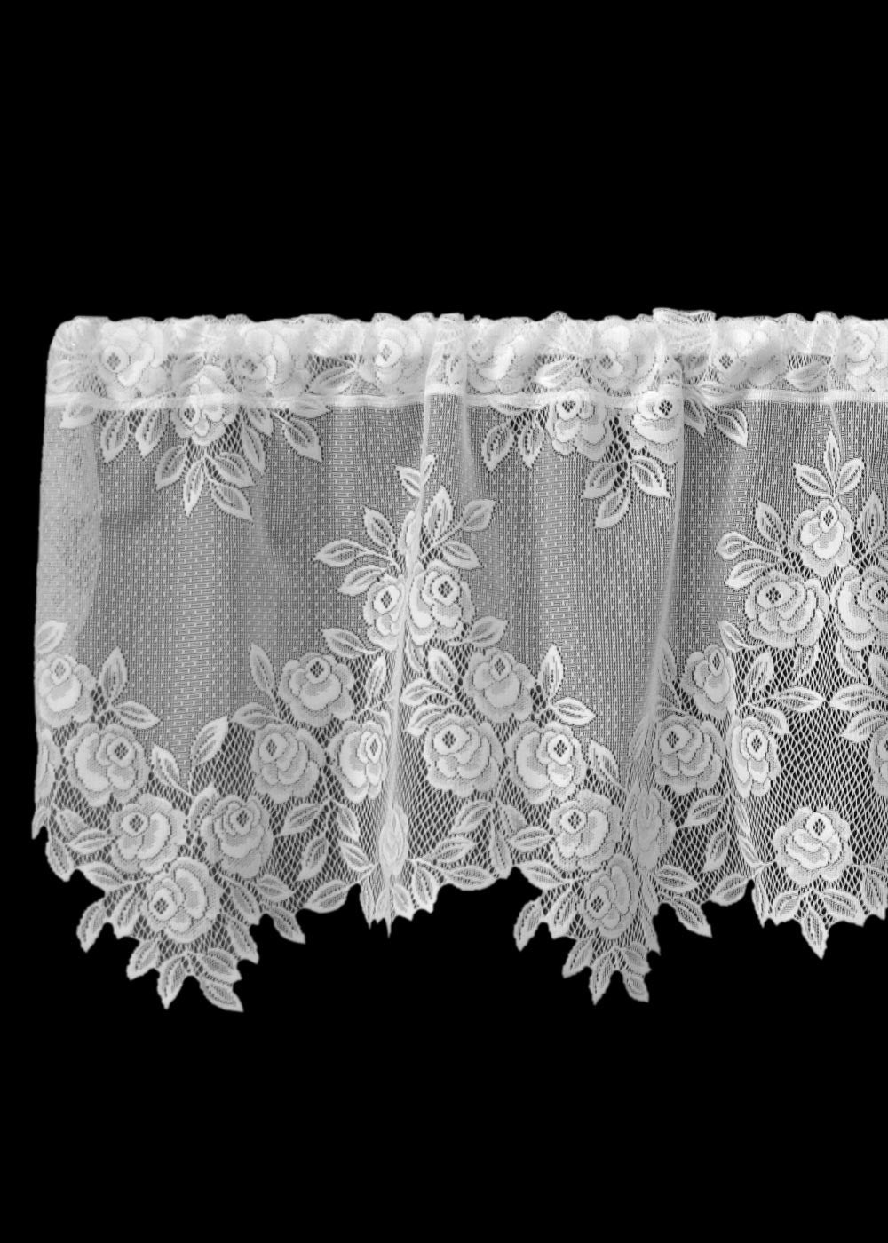 Tea Rose Lace Valance Pine Hill Collections