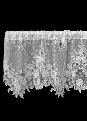 Tea Rose Lace Valance - Pine Hill Collections