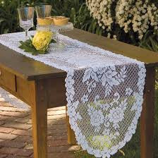 "Victorian Rose Lace Runner 13""x36"" by Heritage Lace"