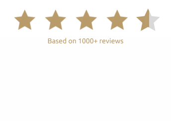 4 and a half gold stars with 1000+ reviews