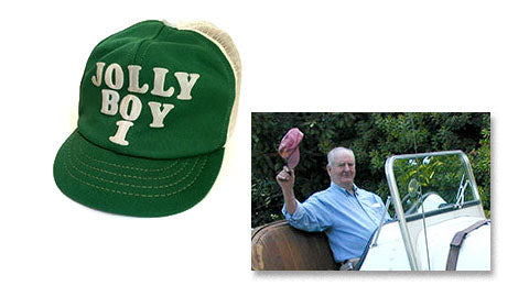 Image of first Jolly Boy hat and image of Uncle Fred