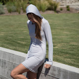 Women's Hoodie Dress - Sun Protective - Arctic Grey