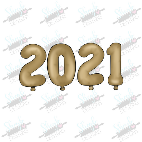 2021 Balloon Set Cookie Cutter