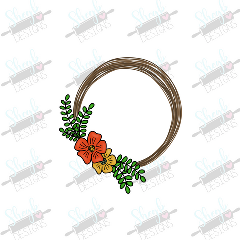 Autumn Floral Circle Cookie Cutter